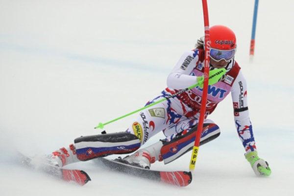 Slovak Petra Vlhová at the Alpine Skiing World Cup race in Killington, USA; she ended second.