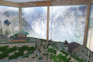 Exhibition of mountain chalets' miniatures, Hrbeienok, High Tatras