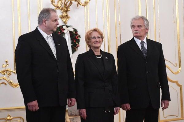 New Constitutional Court judges (l-r): Miroslav Duriš, Jana Laššáková and Mojmír Mamojka