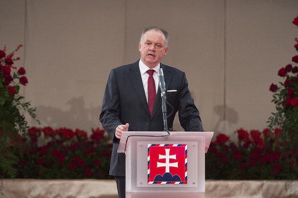 President Andrej Kiska granting awards, January 1, 2018