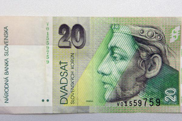 Banknote of 20 Slovak crowns