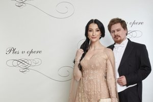 Opera Ball 2018 - actress Lucia Hablovičová and fashion designer Boris Hanečka