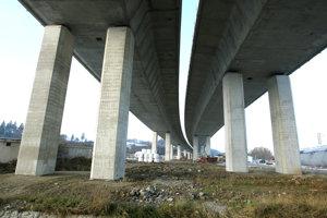 Construction of the D1 highway near Lietavská Lúčka