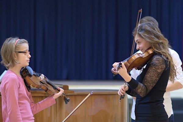 Alexandra Soumm giving a master class in Bratislava