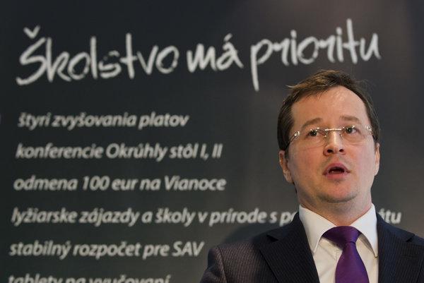 Education Minister Juraj Draxler