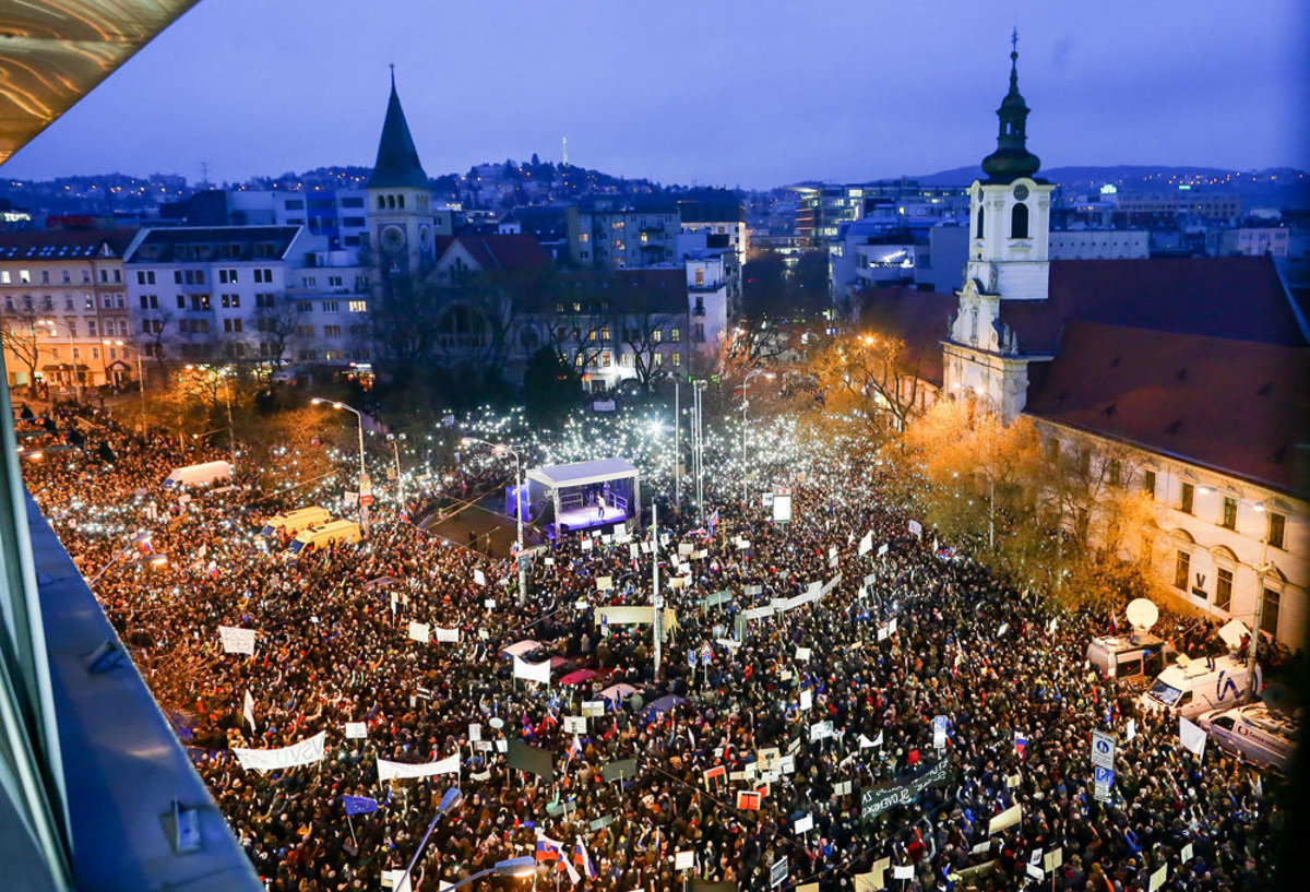 Slovakia protest largest since 1989 anti-communism rallies