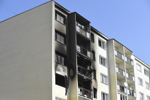 The house that suffered explosion and fire on Sunday 8 in Košice.