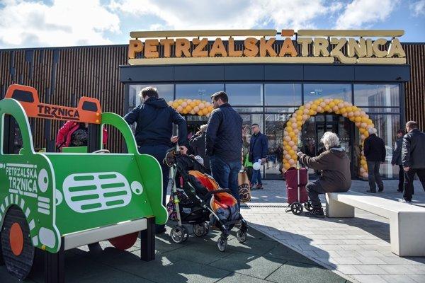 First day at Petržalská Tržnica
