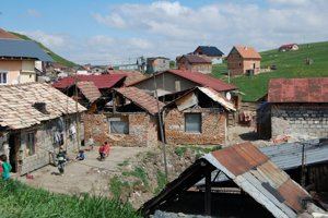 Roma settlement in Markušovce