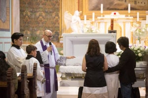 The ceremonial parting mass for Henry Acorda, June 9.