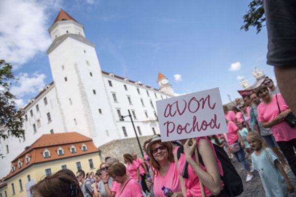 The Avon march strives to raise awareness of breast cancer.