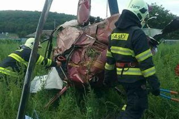 The helicopter crashed in the middle of a village on July 7.