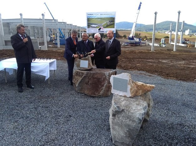 Tapping of foundation stone of Punch's plant in the industrial park in Detva.