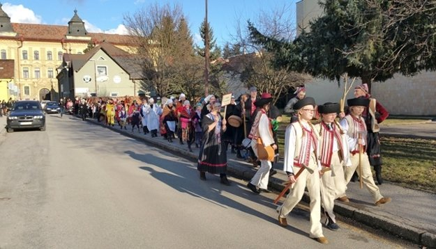 Procession in Rimavská Sobota