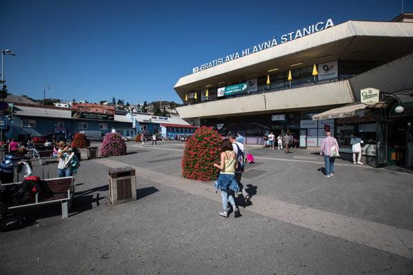 The main railway station in Bratislava