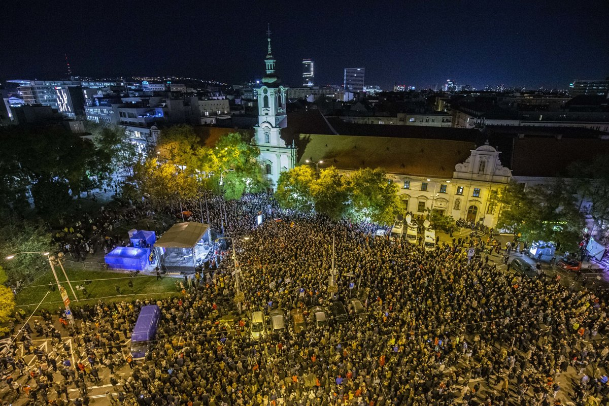 91c436910b45 Protest gatherings will return to Slovakia one year after the ...