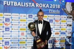 Slovak midfielder Marek Hamšík was named Slovakia's Football Player of the Year.