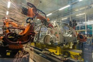 The carmaker Volkswagen Slovakia launched operations in its new body shop.