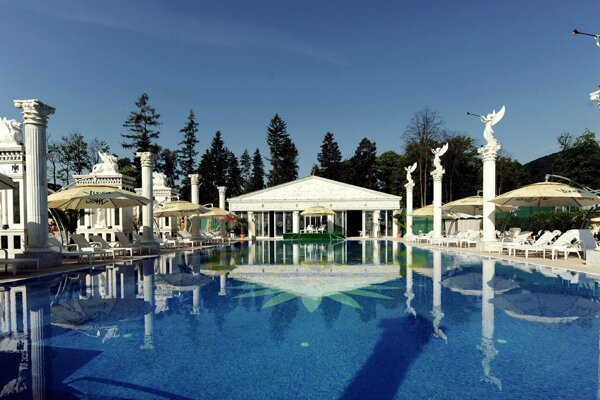 The spa in Rajecké Teplice
