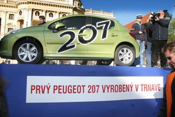The first historical Peugeot 207 produced in Trnava