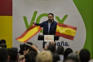 Predseda Voxu Santiago Abascal
