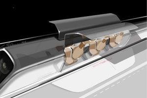 How a Hyperloop tube might look.