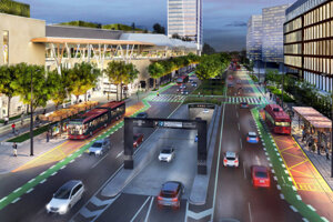 The visualisation of the new bus station in Bratislava