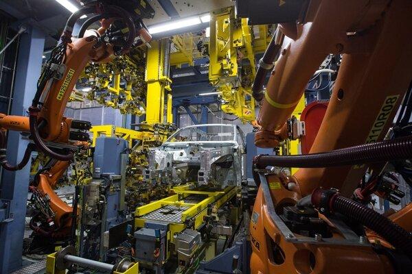 Car production in Volkswagen Slovakia in Bratislava.