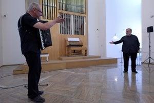 Accordionist B. Lenko and organist J.V. Michalko