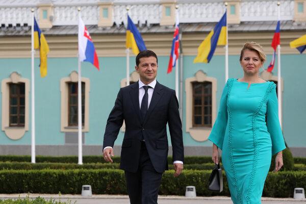 Slovak President Zuzana Čaputová visited Ukraine on September 16, meeting with her counterpart Volodymyr Zelensky