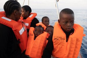 Migrants are being rescued in the Mediterranean