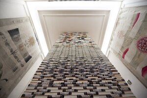 An elevator made of books, called the Semiolift, is exhibited in the Bratislava City Gallery until March 1, 2020