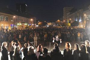 Košice protest on October 18
