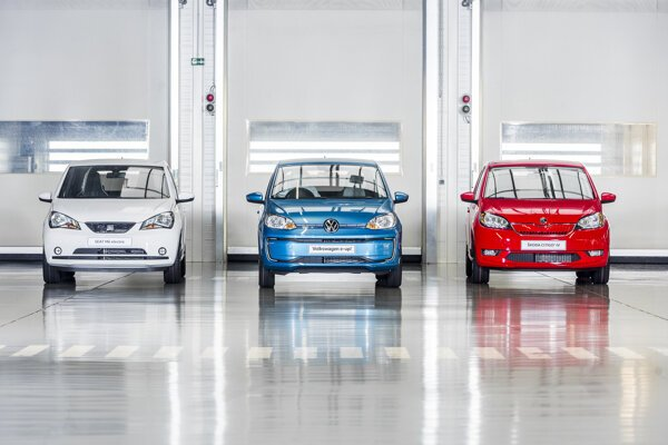 Thee models of electric cars produced in the Bratislava plant of Volkswagen.
