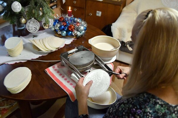 Christmas wafers are a must on the Slovak Christmas table.