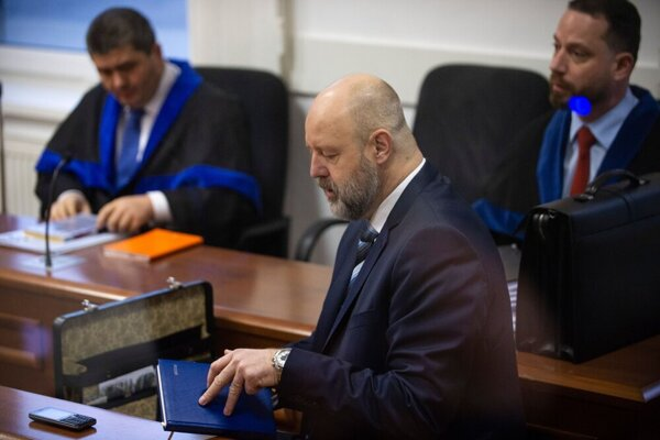 Pavol Rusko attends the promissory notes trial on January 8, 2020, at the Specialised Criminal Court in Pezinok.