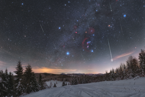 In 2020, NASA opted to publish on its website several pictures from Slovakia. A photo from the Poloniny National Park, taken by Tomáš Slovinský, appeared on the website in April. A few months later, in August, Petr Horálek's photo of the Perseid meteor shower was chosen. It was not the first time NASA picked a Horálek photo. In January of this year, it had chosen his picture of a meteor shower, above, taken in Oravská Lesná.