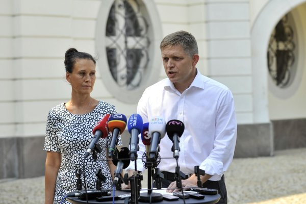 PM Robert Fico and his wife Svetlana