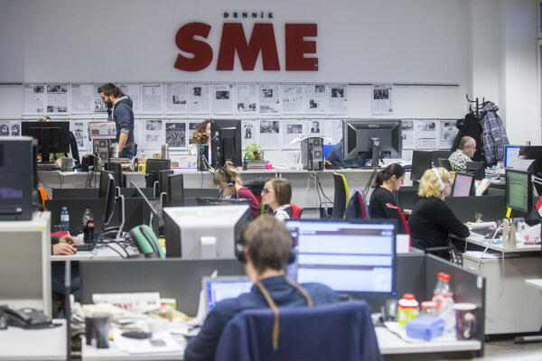 The editorial room of the Sme daily.