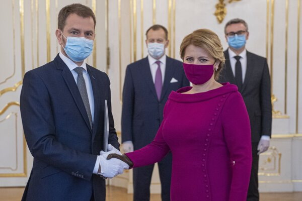 PM Igor Matovič and President Zuzana Čaputová