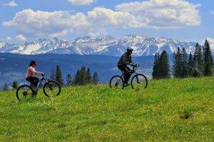 Cycling near Trstená