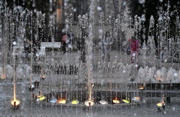 The singing fountain in Košice.