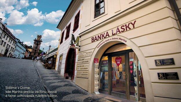 Bank of Love in Banská Štiavnica