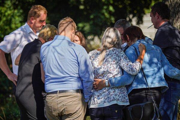 The families of Ján Kuciak and Martina Kušnírová after the verdict.