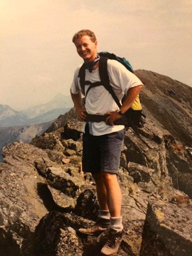 Nigel Baker climbs one of the High Tatras peaks in 1993.