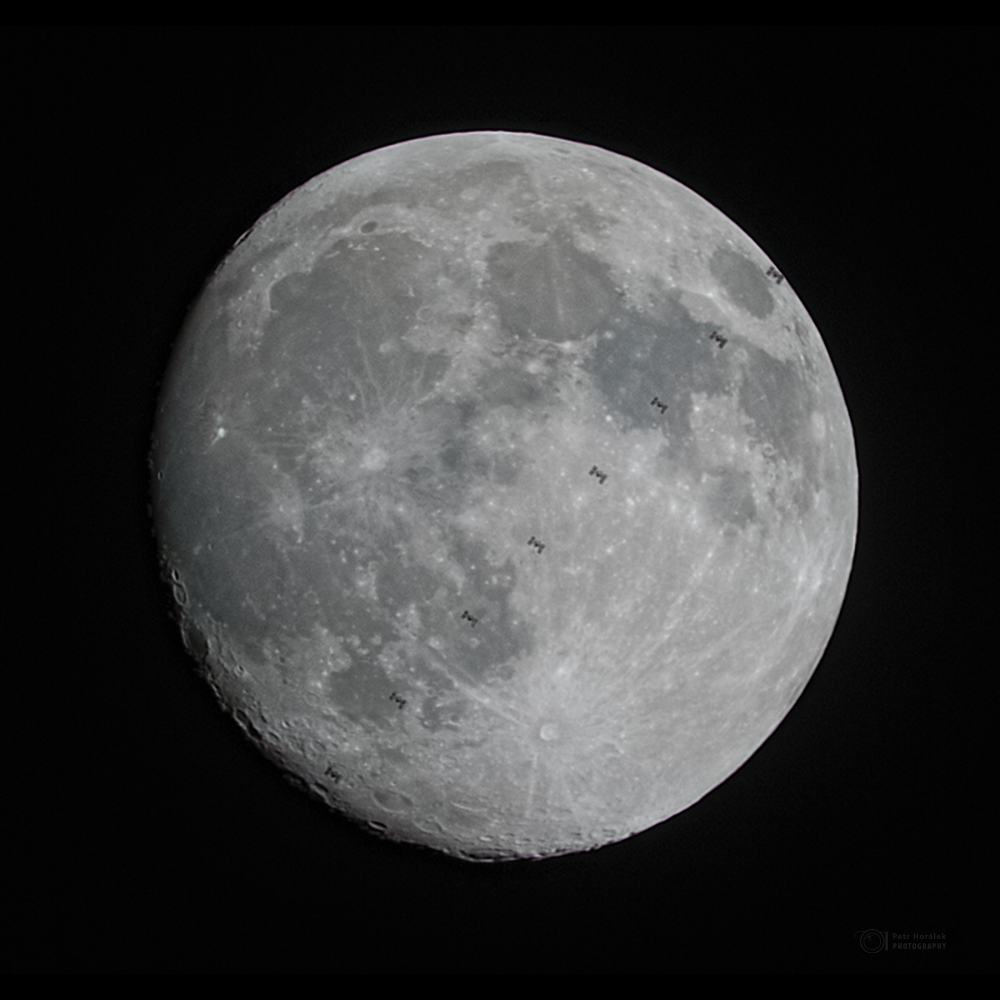 ISS in front of Moon (from eastern Slovakia)
