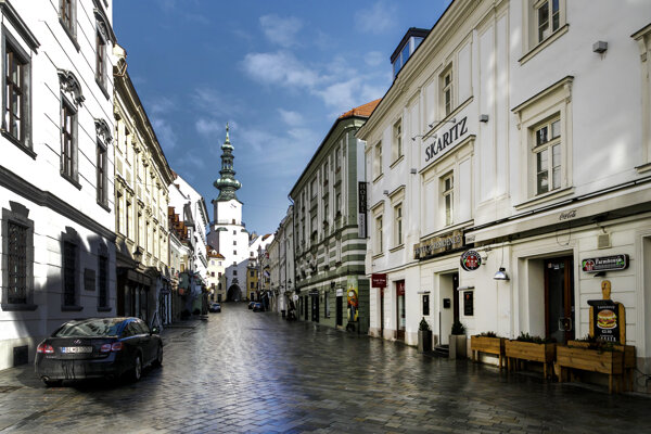 The empty streets of Bratislava