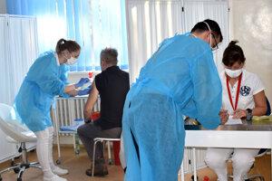 Vaccination of teachers in Košice.