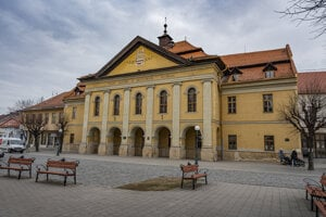 WEEK 13: The town of Kežmarok has started the renovation works on this historical Reduta building from the 17th century.