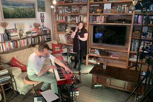 WEEK 15: Katka Koščová sings in her living room.